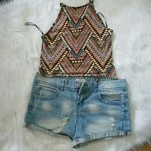 F21 shorts 29 and halter top size S